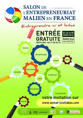 Economie salon de l entrepreneuriat malien en france for Salon entreprenariat